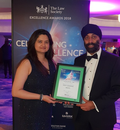 Duncan Lewis, Main Solicitors, A Night to Remember at the Law Society Excellence Awards